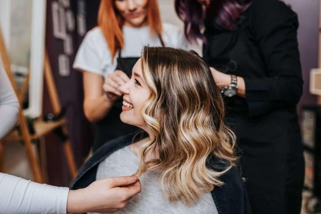 customer hair styling